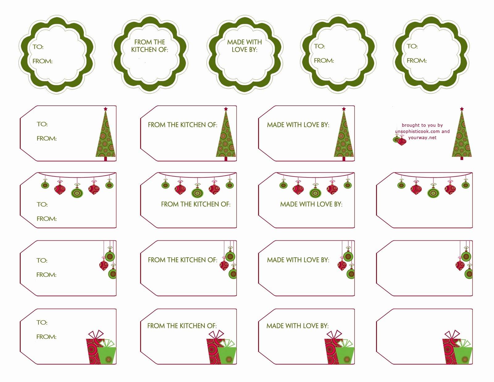 Free Editable Printable Christmas Gift Tags – Festival