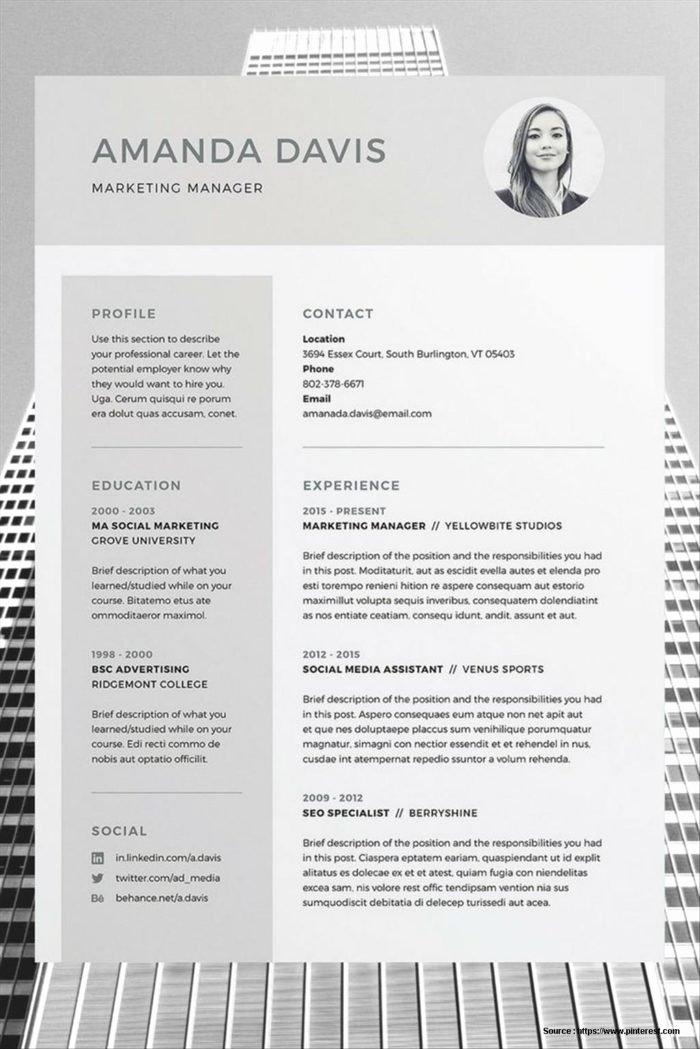 Free Editable Resume Templates 2015 Resume Resume