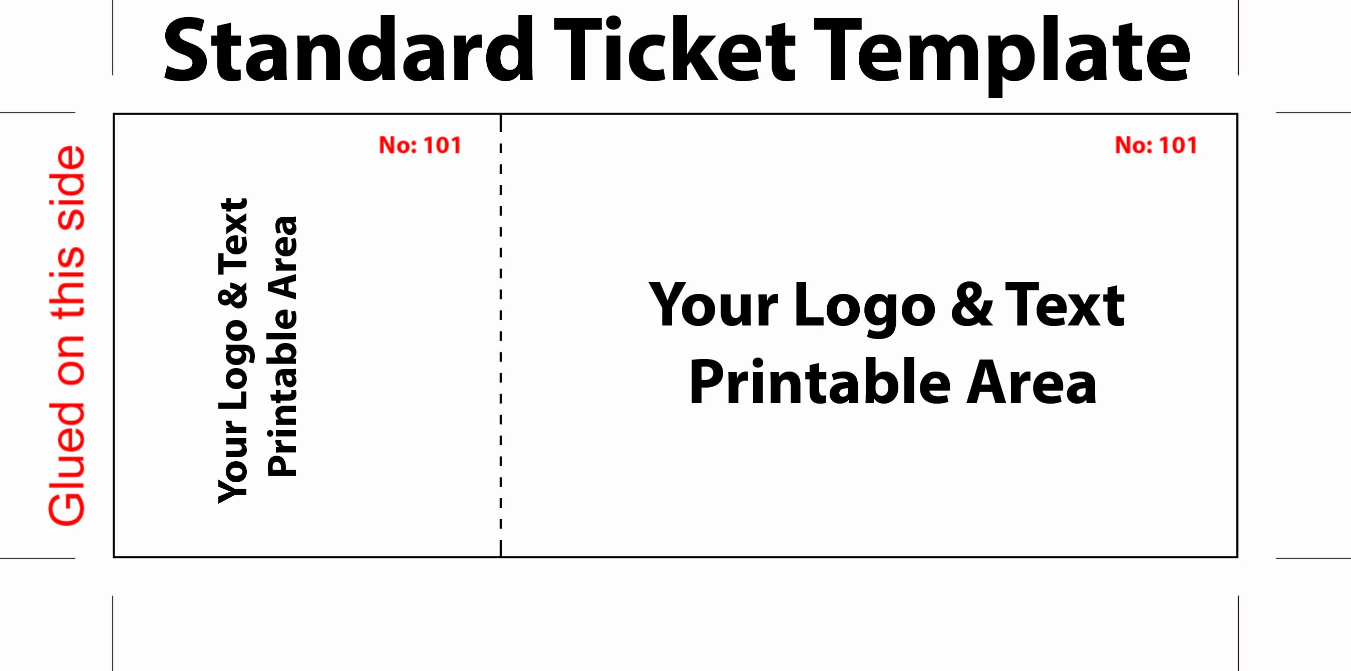 Free Editable Standard Ticket Template Example for Concert