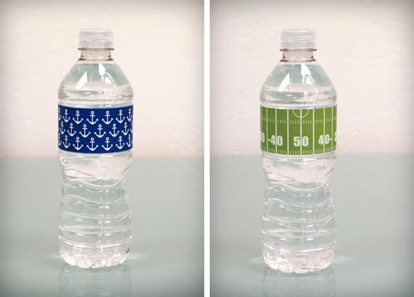 Free Editable Water Bottle Labels