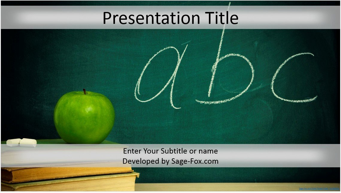 Free Education Powerpoint Template 4266