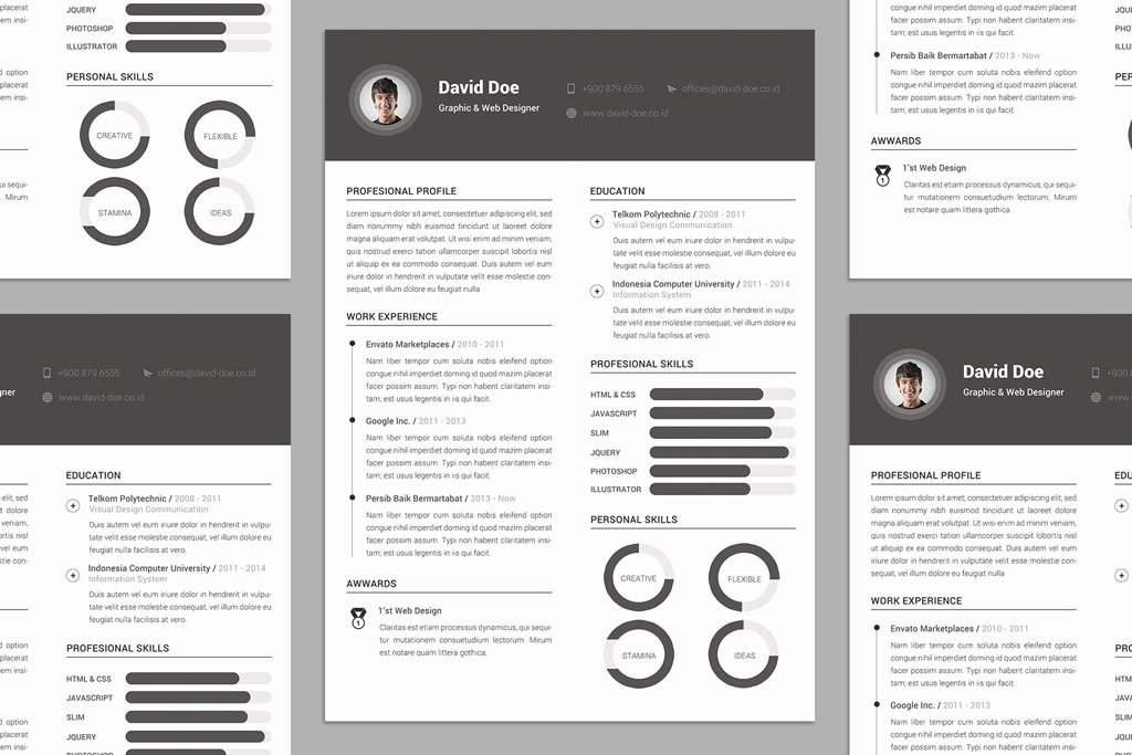 Free Elegant Resume Cv Design Template Psd File Good