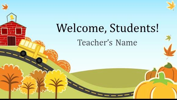 Free Elementary School Teacher Template for Powerpoint