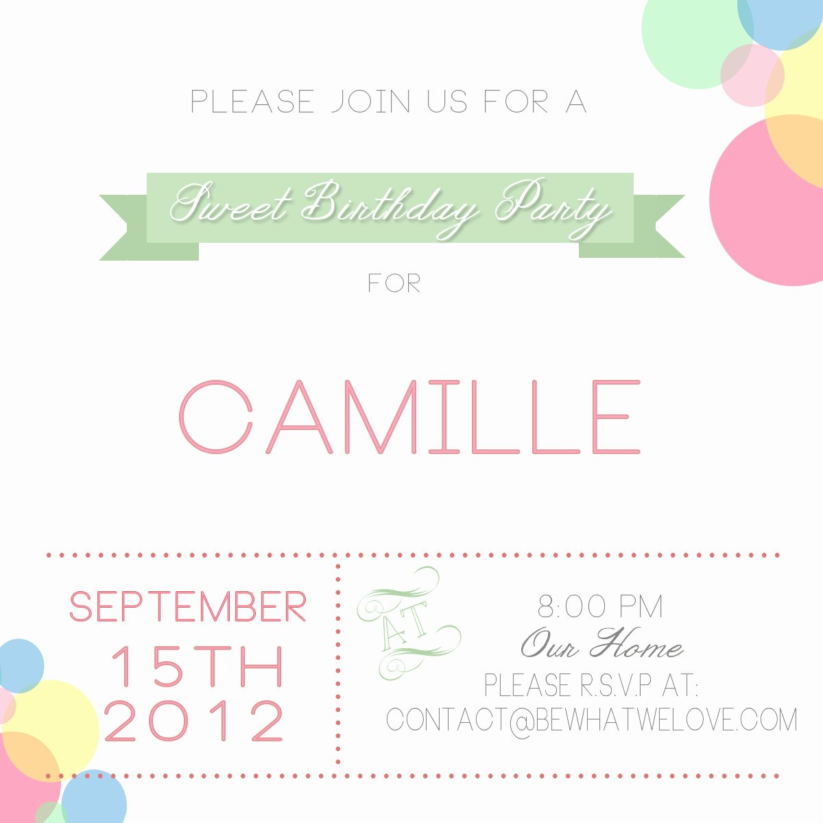 Free Email Party Invitations