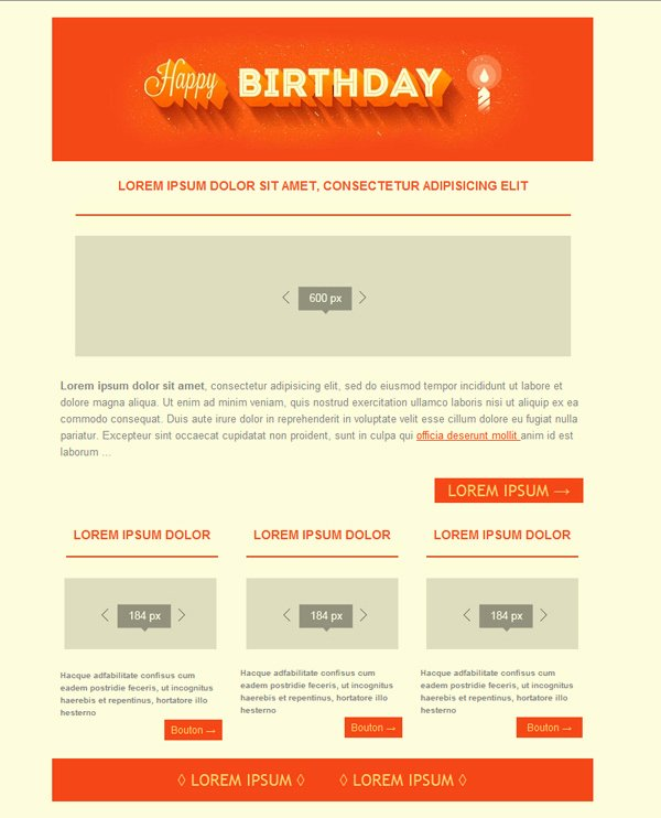 Free Email Templates Download Design Happy Birthday