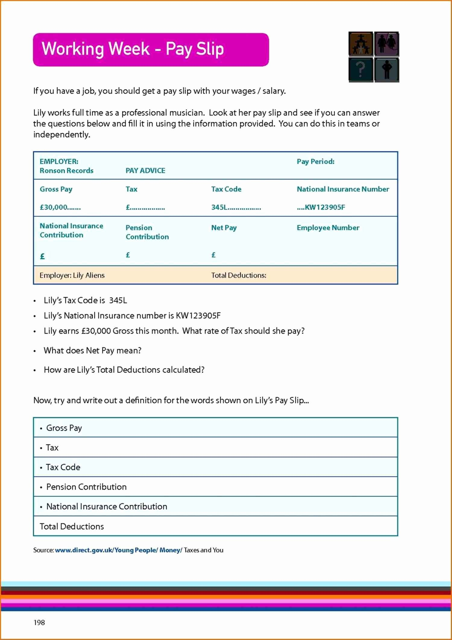 Free Employee Earnings Statement Template Download