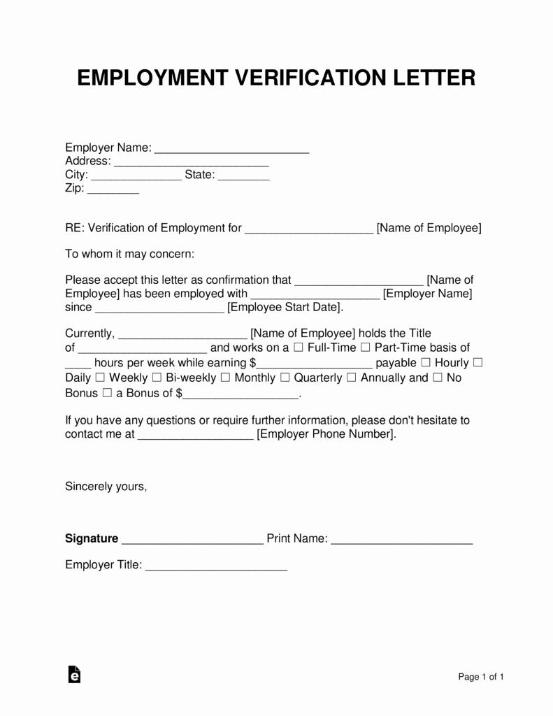 Free Employment In E Verification Letter Pdf
