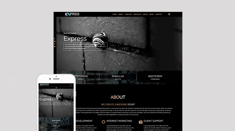 Free Epage Parallax Responsive Bootstrap HTML5 Template