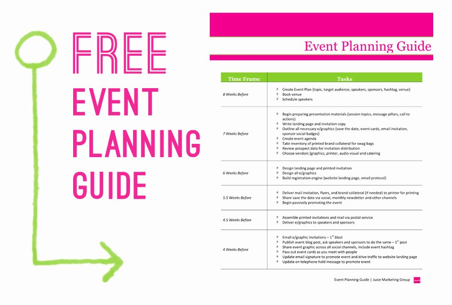 Free event Planning Guide Juice Marketing Group