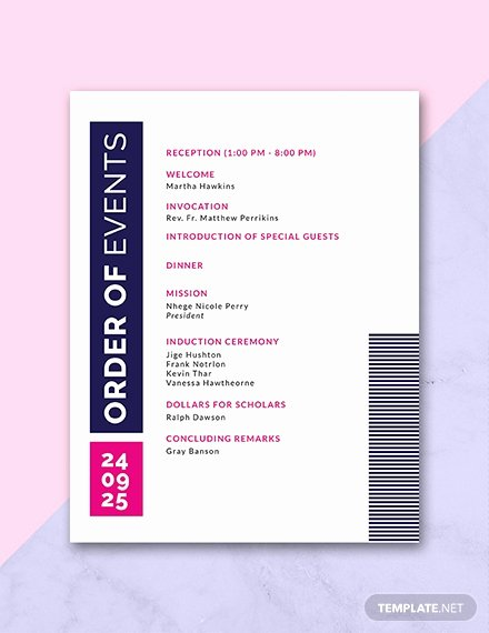 event program invitation