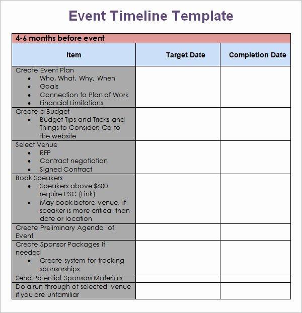 Free event Schedule Calendar Template Programs
