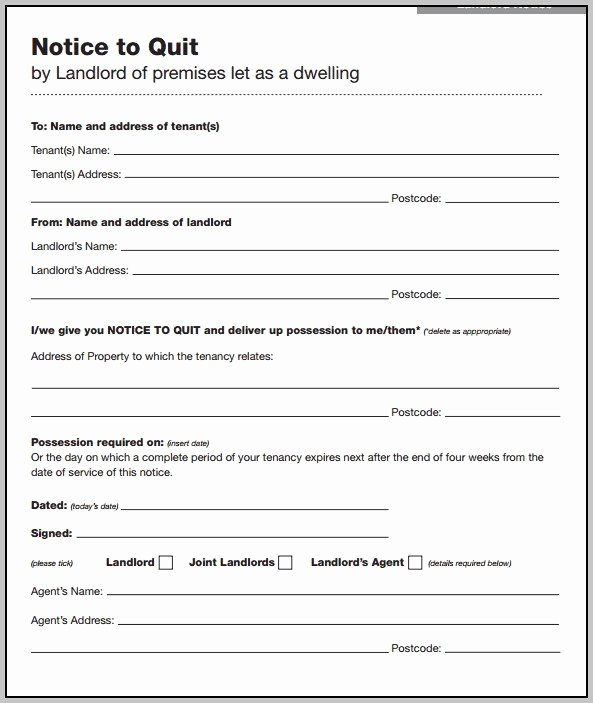 Free Eviction Notice Template Uk Section 21 Template