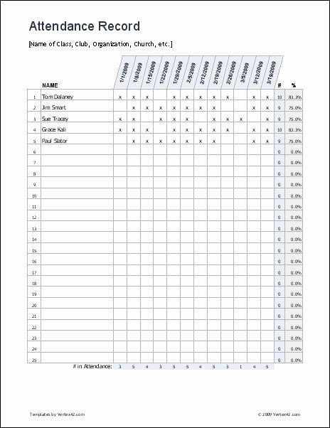 Free Excel attendance Record attendance Sheet It is Easy