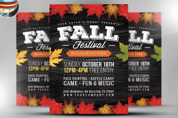 Free Fall Festival Flyer Templates Indesign Designtube