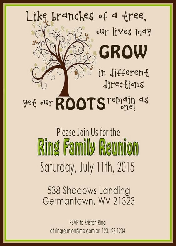 Free Family Reunion Invitations Templates 28 Images