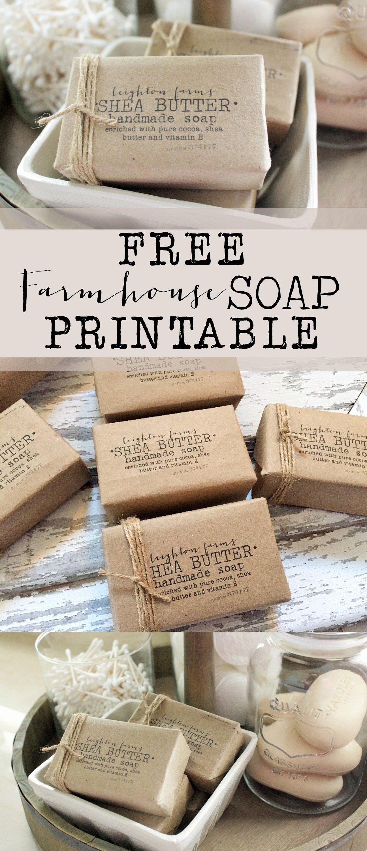 Free Farmhouse soap Printable House Of Hargrove