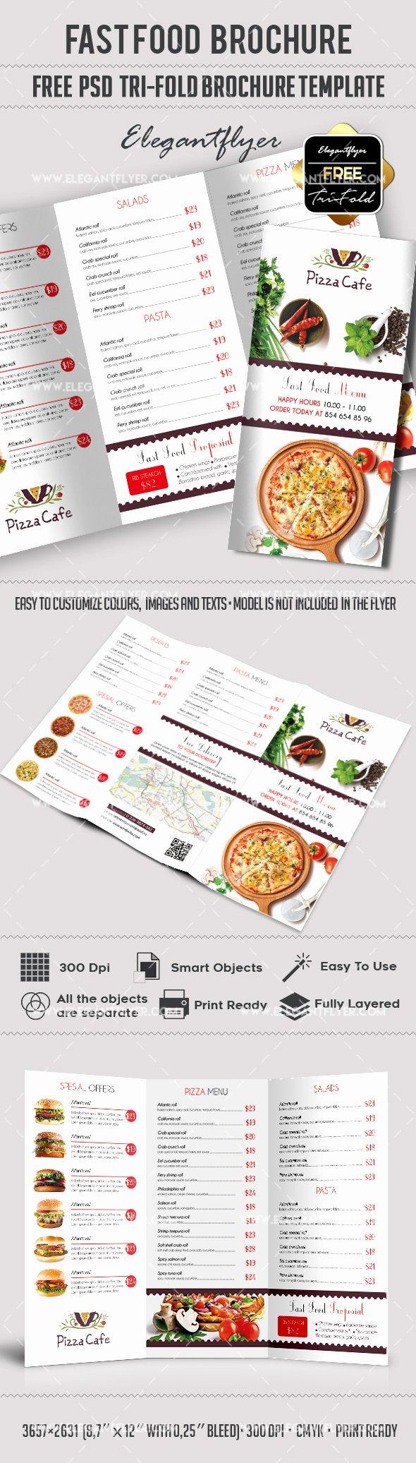 Free Fast Food – Free Psd Tri Fold Psd Brochure Template
