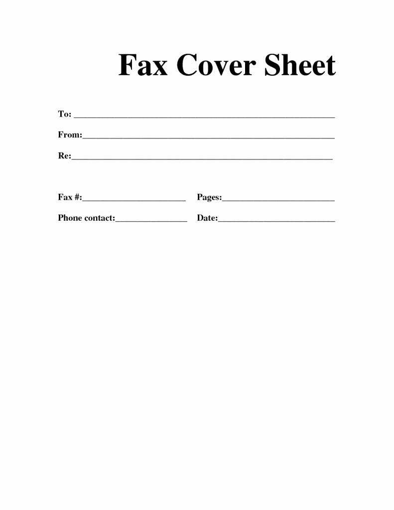 Free Fax Cover Sheet Template Download
