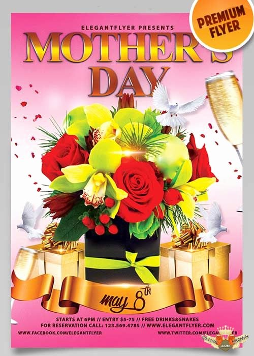 Free Files Mothers Day V10 Psd Flyer Template