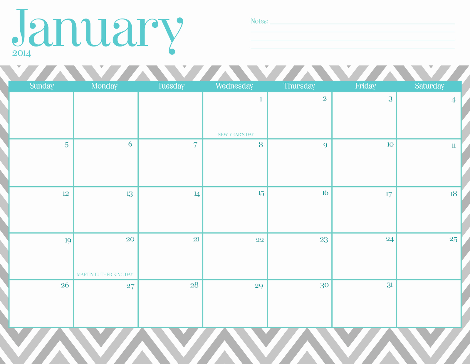 Free Fillable Calendars 2016 Templates