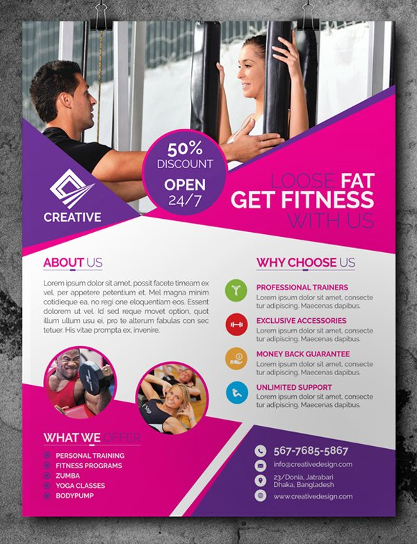 Free Fitness Gym Flyer Template Psd Files and Free Church