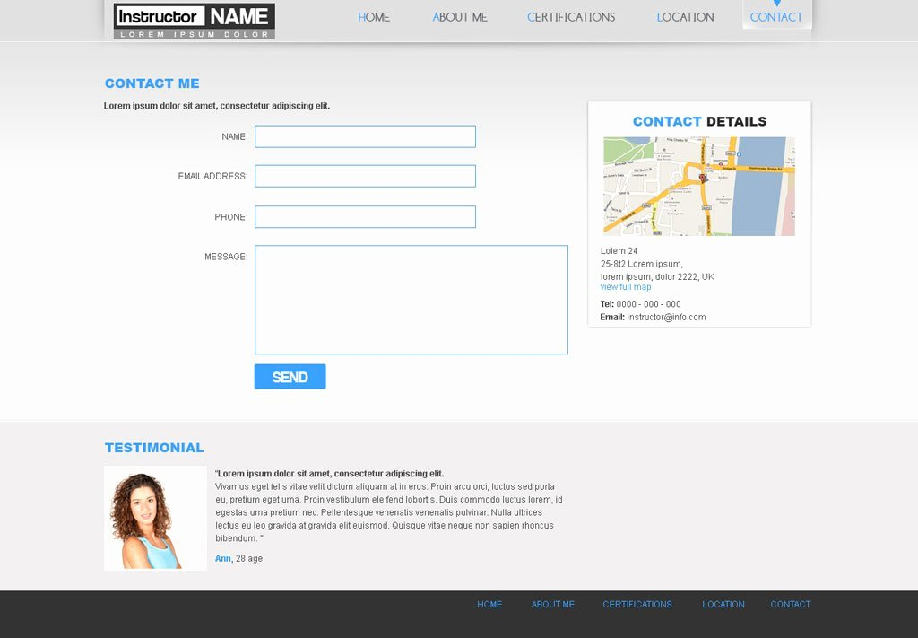 Free Fitness Web Template 29