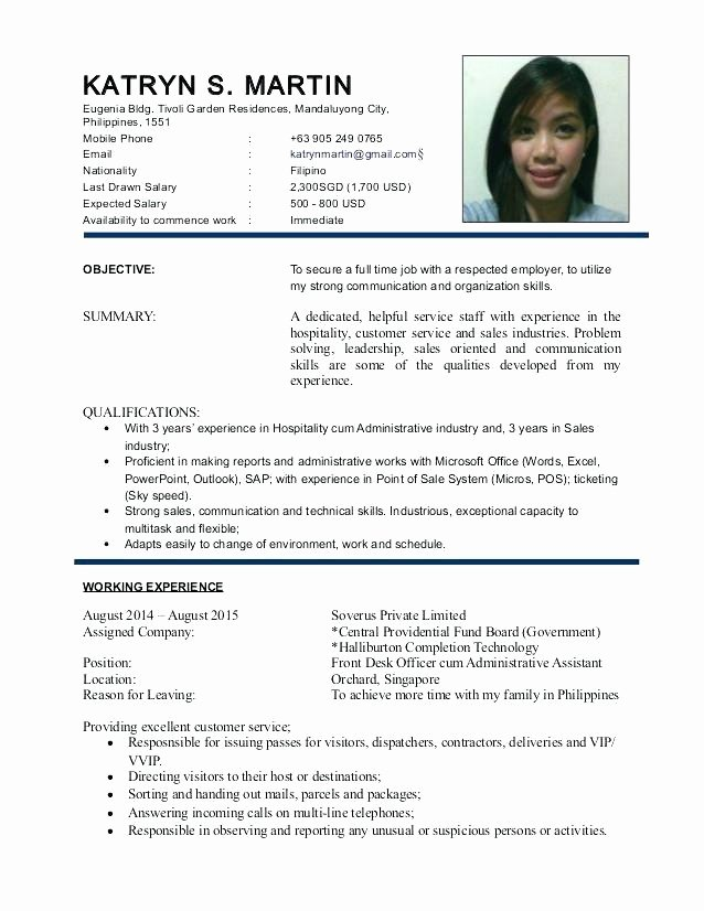 Free Flight attendant Cv Template Resume Professional