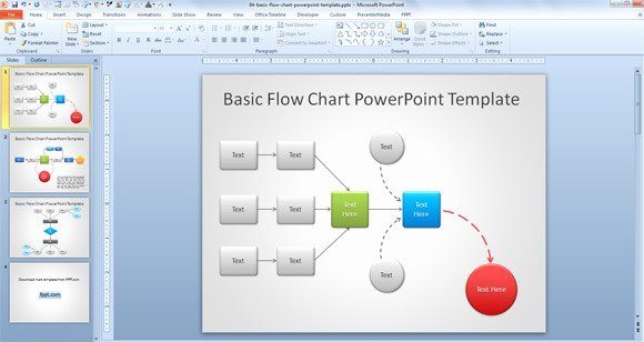 Free Flowchart Template Powerpoint Free Work Process Flow