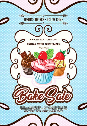 Free Flyer for Bake Sale – by Elegantflyer