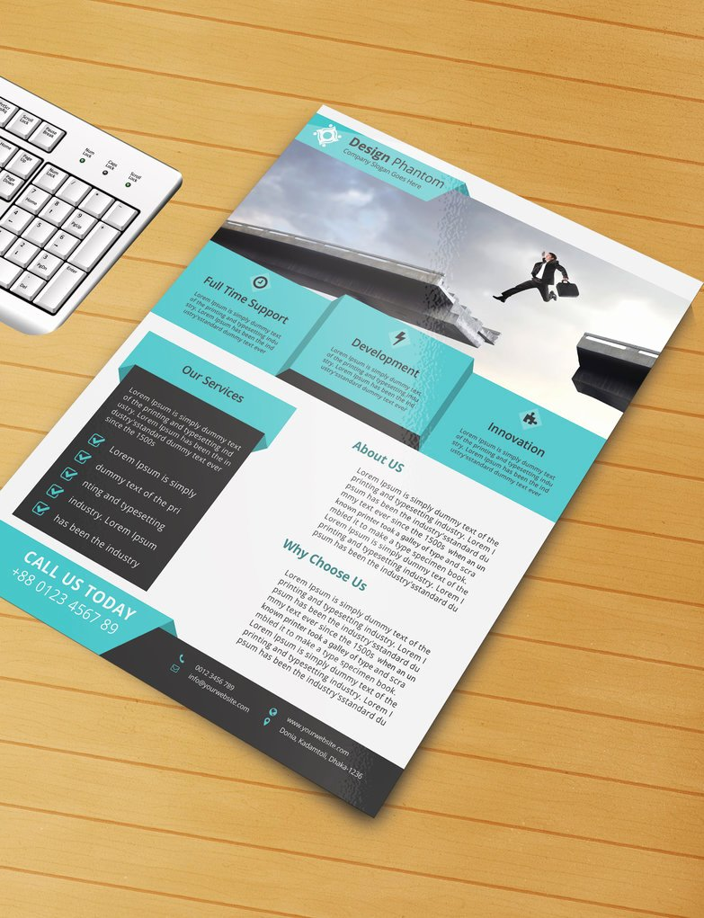 Free Flyer Psd Template Free Download by Designphantom