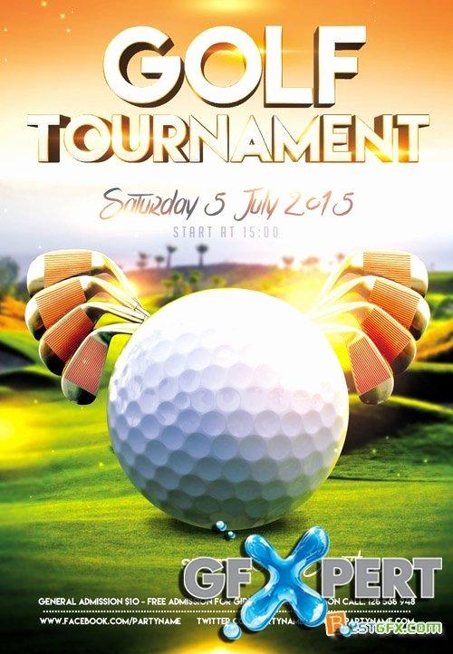 Free Flyer Psd Template Golf tournament event