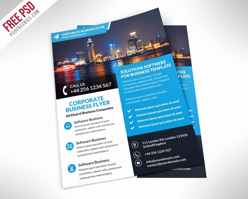 Free Flyer Templates Psd From 2016 Css Author