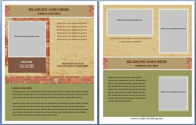 Free Flyer Templates Word