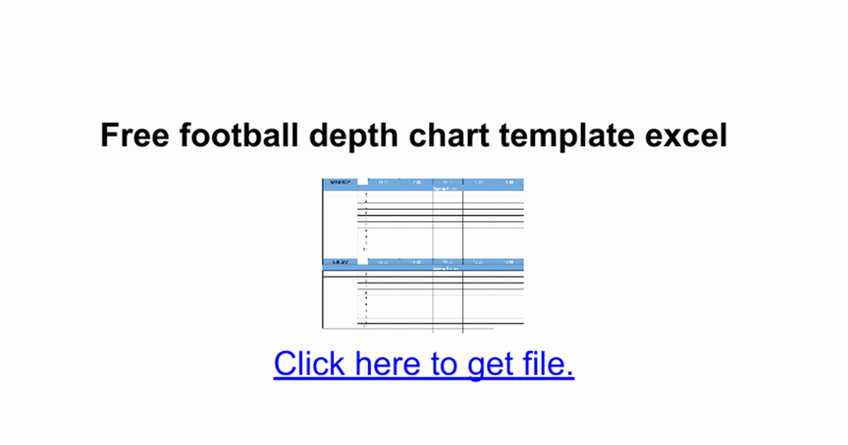 Free Football Depth Chart Template Excel Google Docs