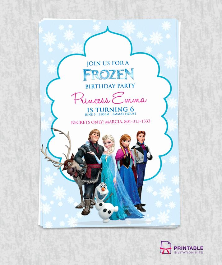 Free Frozen Birthday Invitation Template ← Wedding