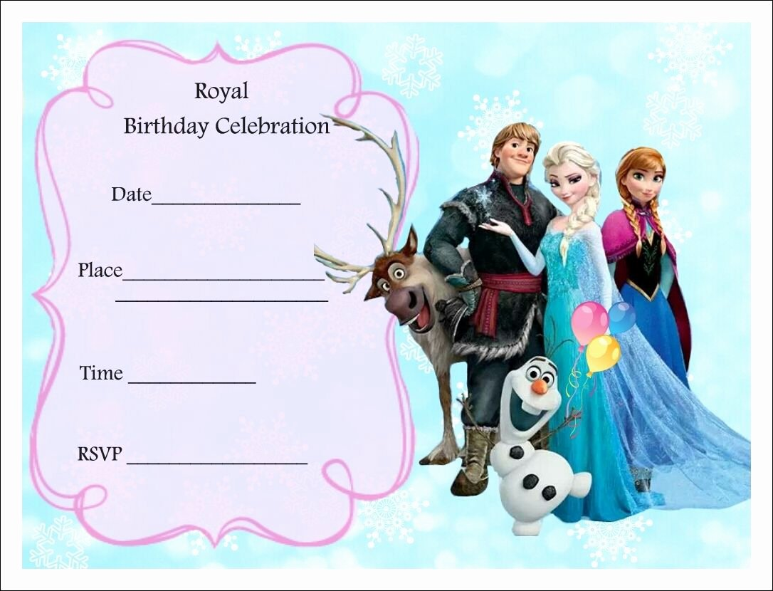 Free Frozen Party Invitations Frozen Party