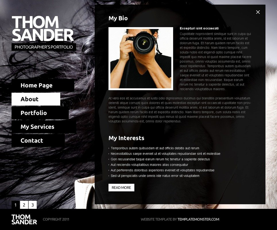 Free Full Js Website Template Graphy