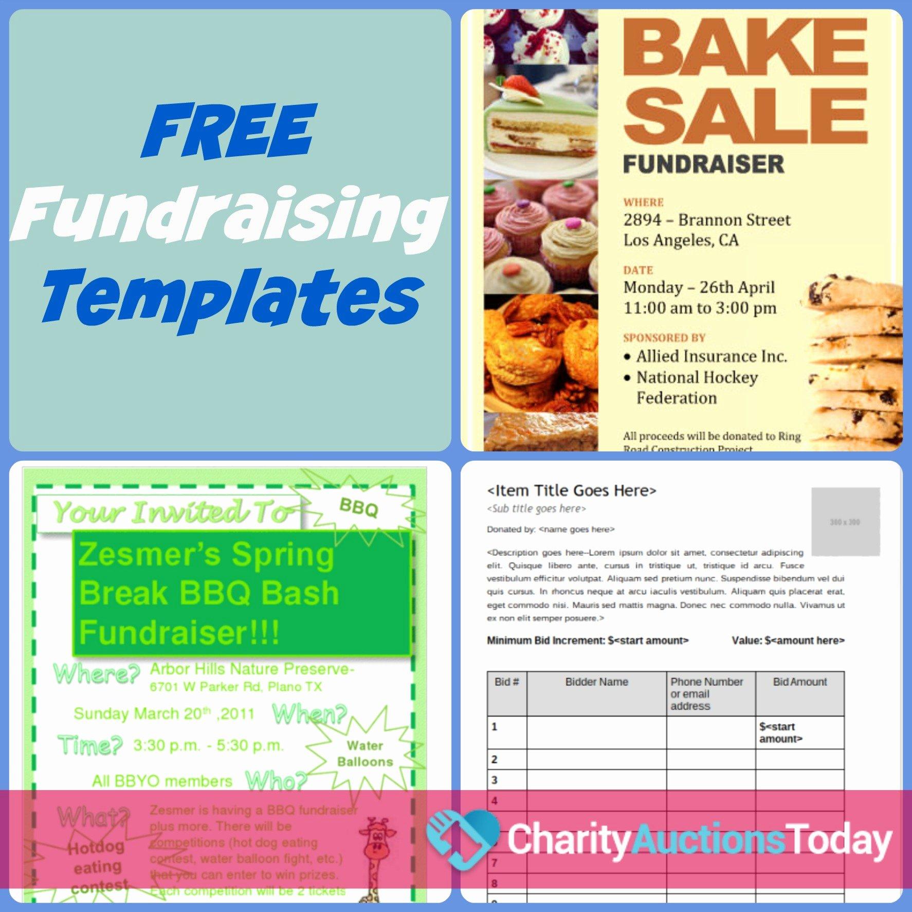 Free Fundraiser Flyer