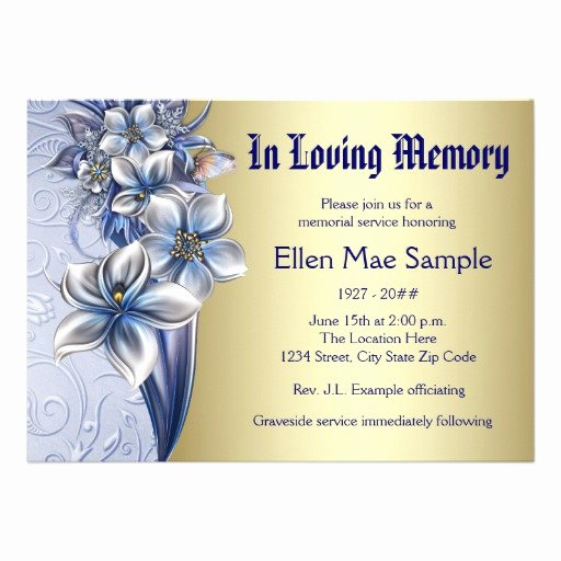 Free Funeral Announcements Templates
