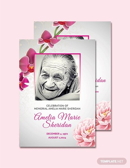 Free Funeral Memorial Card Template Download 232 Cards
