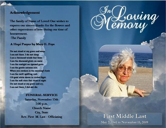 Free Funeral Program Template Microsoft Word