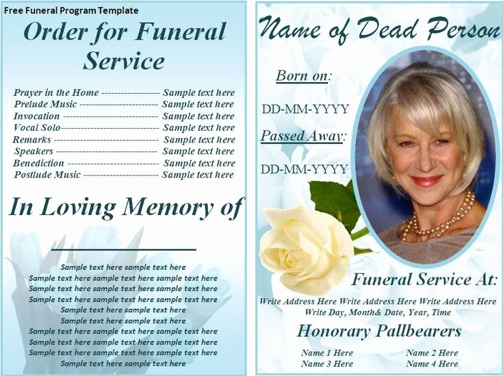 Free Funeral Program Templates
