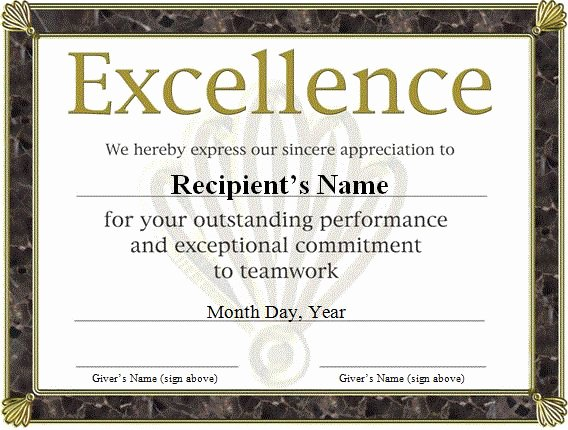 Free Funny Award Certificates Templates