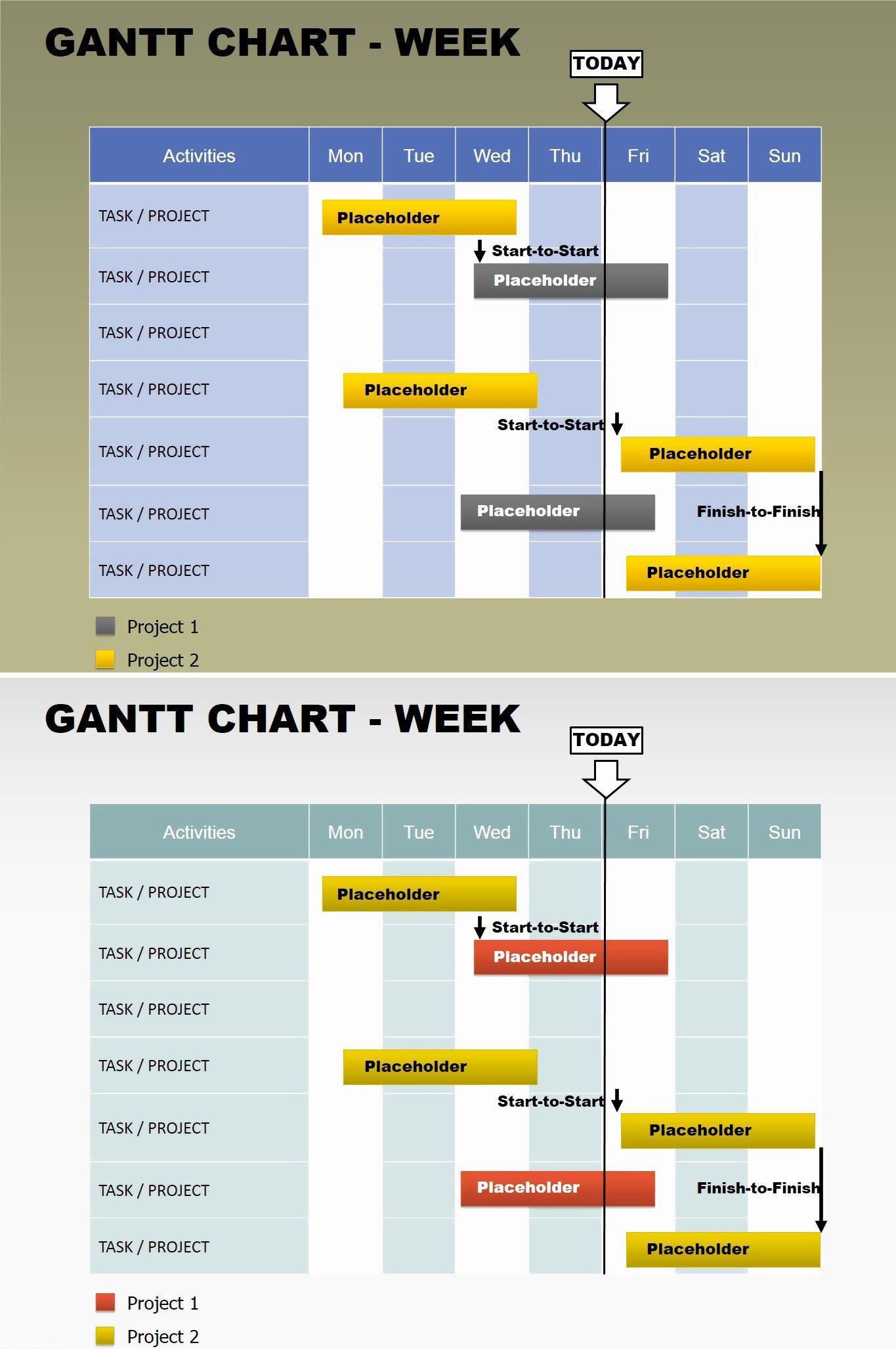 Free Gantt Week Powerpoint Charts