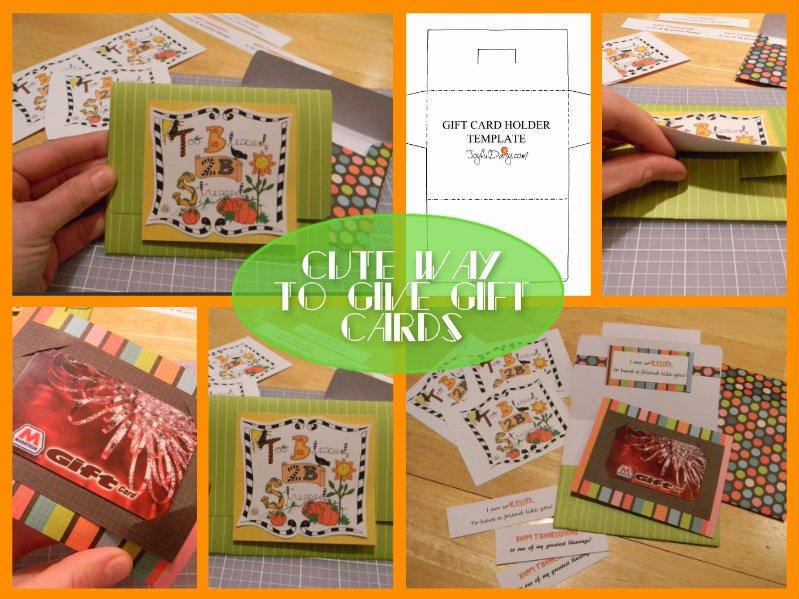 Free Gift Card Holder Template Joyful Daisy