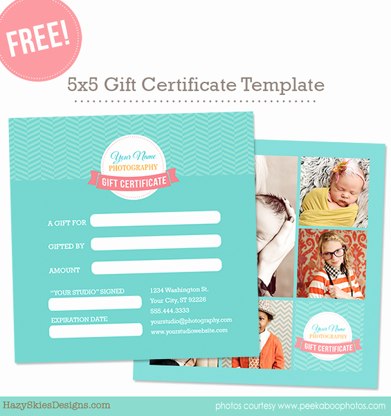 Free Gift Card Template for Graphers Shop