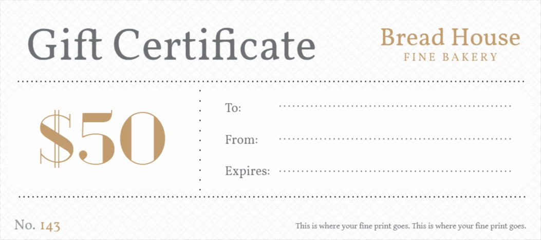 Free Gift Certificates Templates Design Your Gift