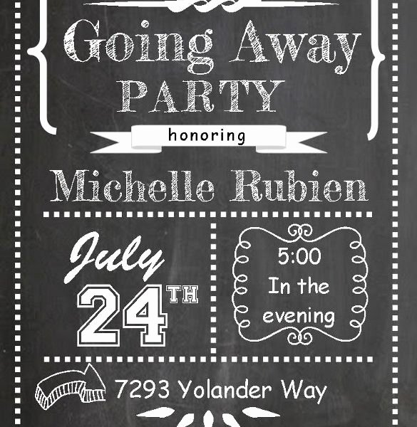 free going away party invitation templates