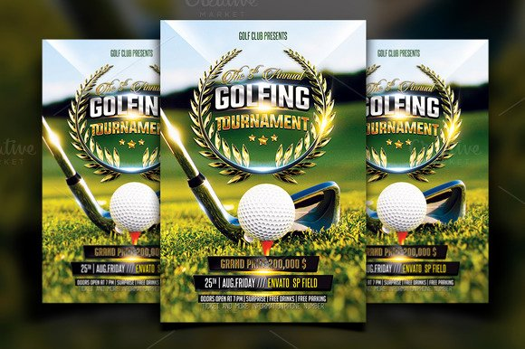 Free Golf Scramble Flyer Template Designtube Creative