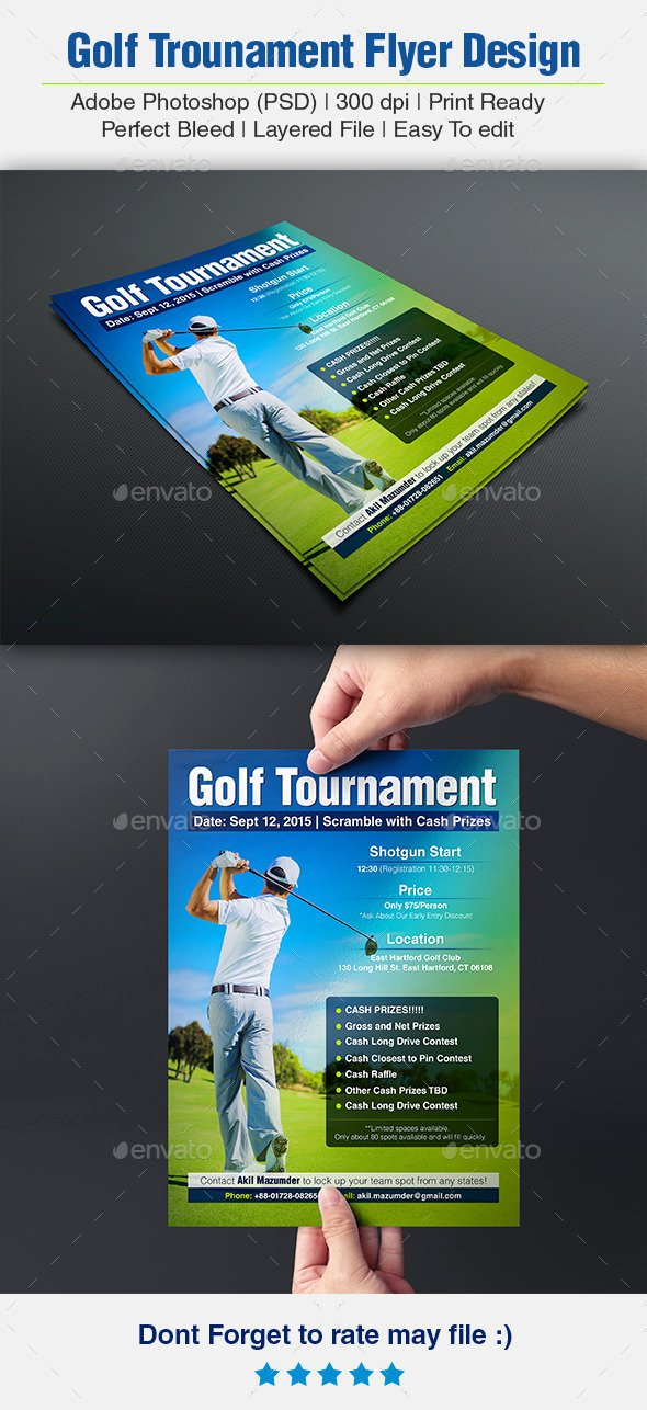 Free Golf Scramble Flyer Template Tinkytyler Stock
